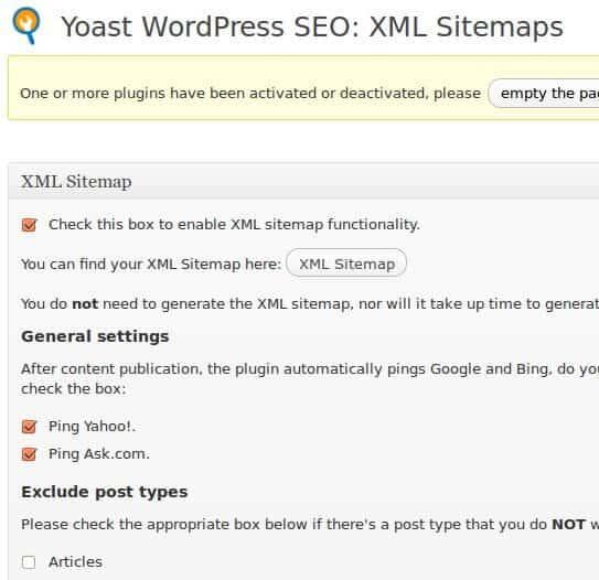 Wordpress Sitemaps: WordPress Référencement : WordPress SEO By Yoast